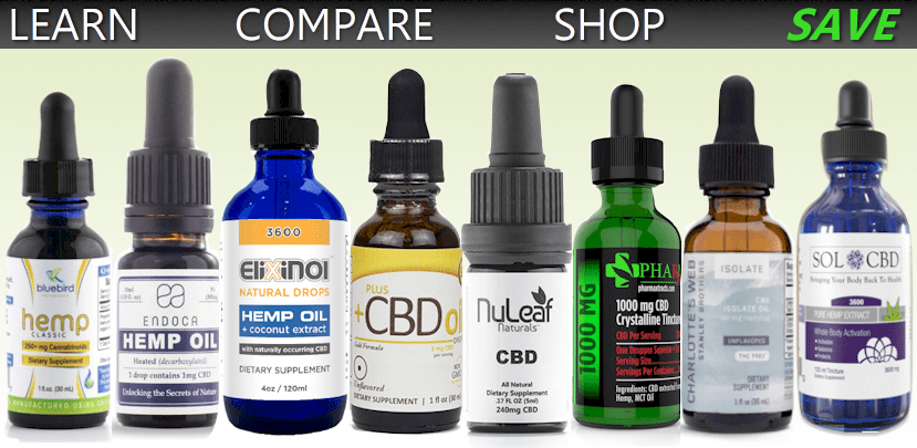 compare and buy major CBD brands